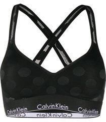 calvin klein underwear modern dot bralette - black