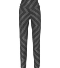 calça feminina legging 7/8 estampada - preto