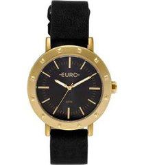 relógio euro spike fever casual feminino - feminino