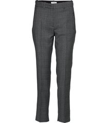 rodebjer paloma check pantalon met rechte pijpen grijs rodebjer