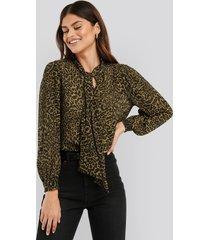 mango lyon blouse ls - multicolor