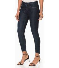 calça jeans feminina jegging cintura média preta calvin klein - 36