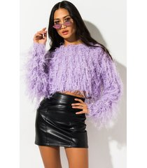 akira rehab clothing poetic justice fringe knit sweater