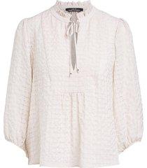 blouse met crepe effect ronja  naturel