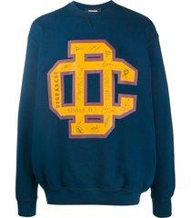 dsquared2 varsity crew neck sweatshirt - blue
