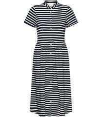 aliya dress knälång klänning blå lollys laundry
