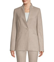 darcy metallic thread blazer
