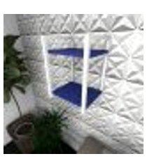 prateleira industrial para sala aço preto prateleiras 30 cm azul escuro modelo indb24azsl