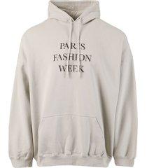 oversize paris fashion week hoodie, cement grey