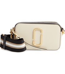 marc jacobs the snapshot leather crossbody bag - white