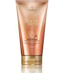 bronze eudora splendor protetor solar e bronzeador corporal  fps 30 marrom