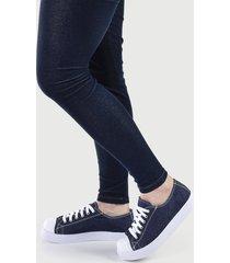 tênis casual sapatenis feminino confort jeans escuro