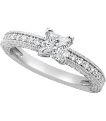 certified princess cut diamond engagement ring (1 1/5 ct. t.w.) in 14k white gold, rose gold, or yellow gold