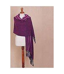 alpaca blend shawl, 'artisanal majesty' (peru)