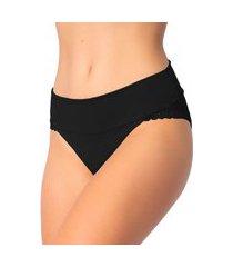 1 calcinha cós duplo renda lingerie feminina sensual preto