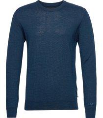 maleon gebreide trui met ronde kraag blauw matinique