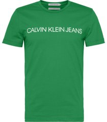institutional logo  slim t-shirt verde calvin klein