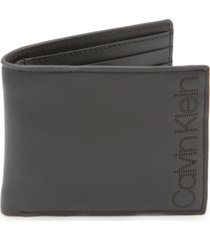 calvin klein men's leather bifold wallet