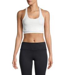 vimmia women's cobra racerback sports bra - soft white - size xs