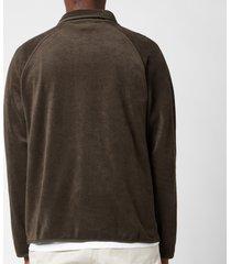 ymc men's beach jacket - dark olive - xl