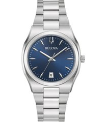 bulova women's classic stainless steel bracelet watch 34mm, created for macy's