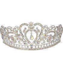 sposa con strass crystal wedding tiara crown prom pageant princess crowns bridal veil headband