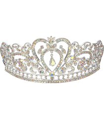 sposa con strass crystal wedding tiara crown prom pageant princess crowns bridal veil headband