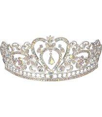 sposa di cristallo del rhinestone della sposa cappotto nuziale della parte superiore della principessa di promenade della parte superiore del diadema della parte posteriore