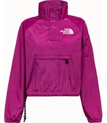the north face giacca wind in nylon fuxia