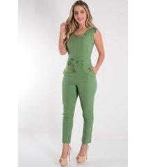macacã£o mamorena longo skinny cavado verde - verde - feminino - dafiti