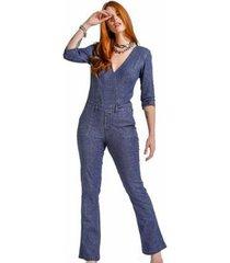 macacão zayon jeans trespasse - feminino