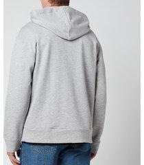 a.p.c. men's jason hoodie - heathered grey - xxl