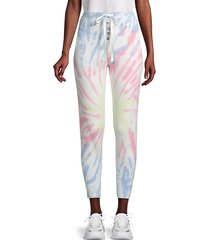 tie-dye tapered joggers