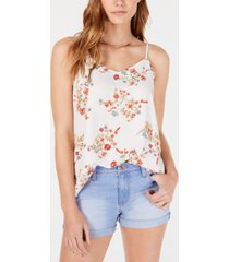 hippie rose juniors' v-neck sleeveless top
