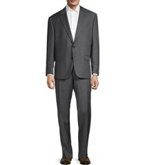 lauren ralph lauren men's regular-fit ultraflex stretch-wool suit - silver - size 42 r