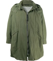 c.p. company pre-owned 1990s detachable hood loose-fit coat - green