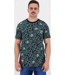 camiseta ecko print out estampada preta