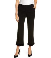 women's lafayette 148 new york manhattan bead trim pants