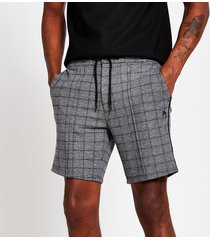 river island mens maison riviera grey check skinny shorts