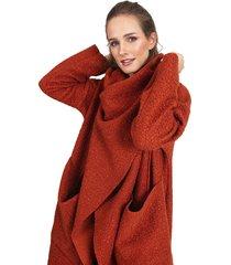 abrigo privilege naranjo - calce oversize