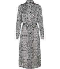 jannike dress knälång klänning grå twist & tango