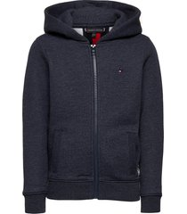 back insert hooded full-zip hoodie trui blauw tommy hilfiger