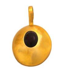 stephanie kantis pebble cabochon dark amethyst pendant