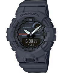 g-shock men's analog-digital gray resin strap step tracker watch 48.6mm