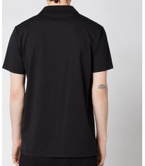 balmain men's eco design flock polo shirt - black/white - xxl