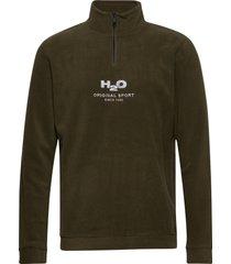 blåvand ii fleece half zip sweat-shirt trui groen h2o