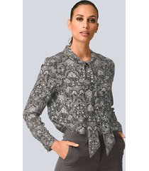 blouse alba moda taupe::grijs