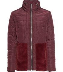 giacca con ecopelliccia (rosso) - bodyflirt