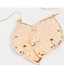 alana satin effect drop earrings - rose/gold