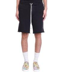 amiri amiri core shor shorts in black cotton